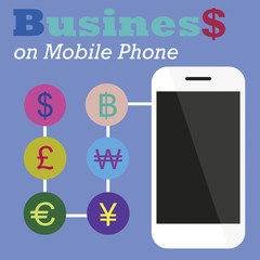Info graphic Business on Mobile phone