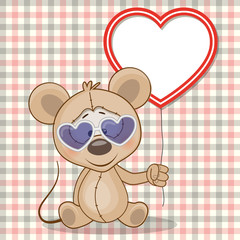 Mouse with heart frame