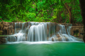 Thailand waterfall in Kanjanaburi (Huay Mae Kamin)