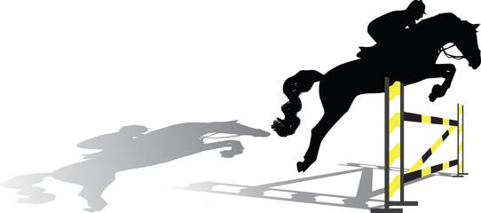 jockey silhouette vector