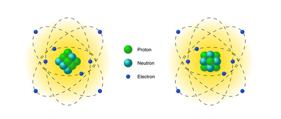 Illustration of atom model