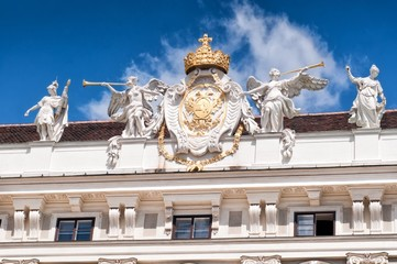 Detail from Hofburg palace in Vienna