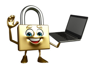 Lock Character with Laptop