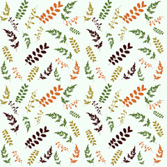 Green leaf seamless pattern for summer and spring