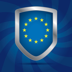 Security shield with European Union symbol