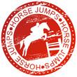 Obrazy na płótnie, fototapety, zdjęcia, fotoobrazy drukowane : Sports stamp - Horse jumps