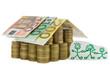 Einfamilienhaus aus Münzen