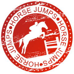 Sports stamp - Horse jumps
