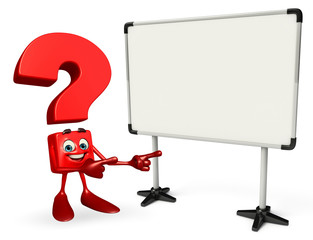 Question Mark character with Display board