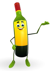 Wine Bottle Character is presenting
