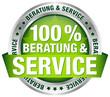 "Button ""100% Beratung & Service"" grün"