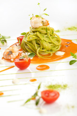 Spahgetti with pesto