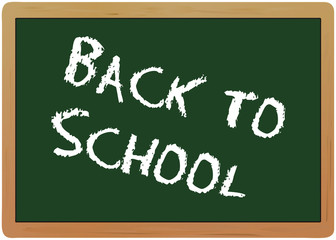 back to school, blackboard, vector