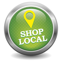 Shop local. Button