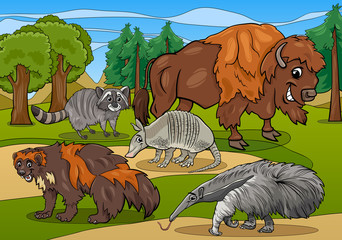 mammals animals cartoon illustration