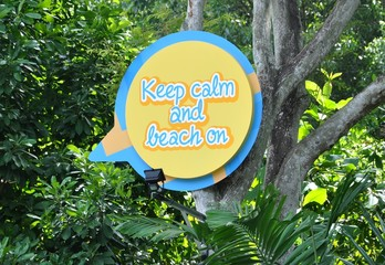 Keep calm and beach on sign