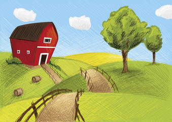 Red Farm Landscape