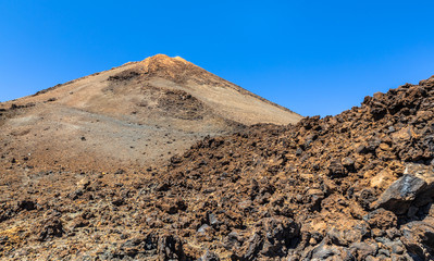 Volcanic rocks from Teide volcano in Tenerife