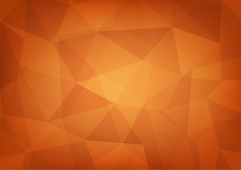 abstract polygon background of orange