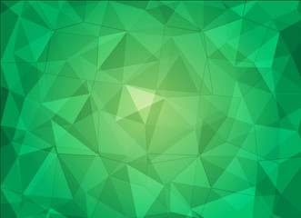green abstract polygon background