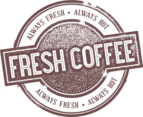 Fresh Brewed Coffee Stamp