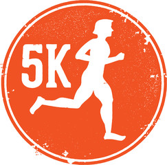 5K Running Race Stamp