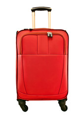 modern travel bag isolated on white background