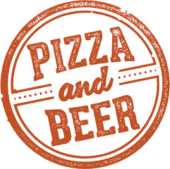 Pizza and Beer Menu Stamp
