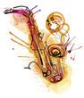 Watercolor Sax - 67585159