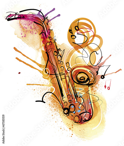 Watercolor Sax