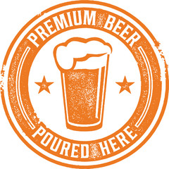 Premium Beer Bar Sign