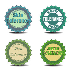Skin tolerance badges