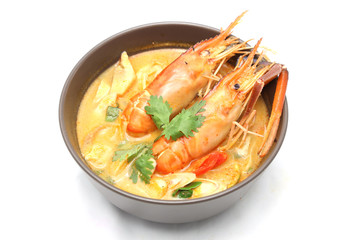 Tom yam kung soup. Thai food