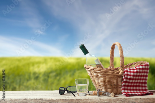 Picnic for one Person in a countryside Landscape - 67585993