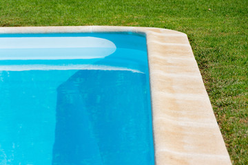 swimming pool on the garden