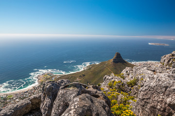 The lions head in Cape Town South Africa