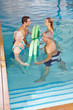 Rückentraining durch Hydrotherapie im Pool