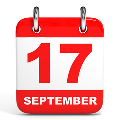 Calendar. 17 September.