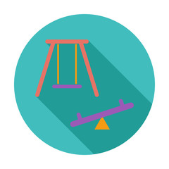 Swing. Single flat icon.