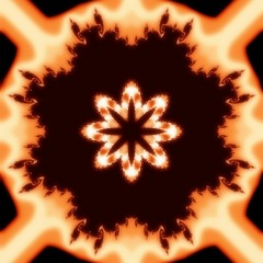 Decorative fractal ornament in a brown colors