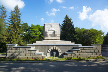 Монумент в Ставрополе погибшим солдатам. Россия.