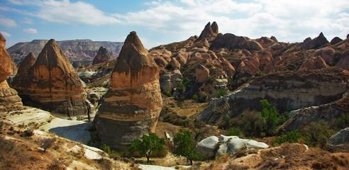 Cappadocia, cones, unusual rock formations