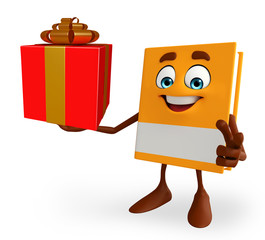 Book Character with gift box
