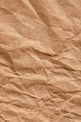 Brown Kraft Paper Bag Crushed Crumpled Smeared Grunge Texture