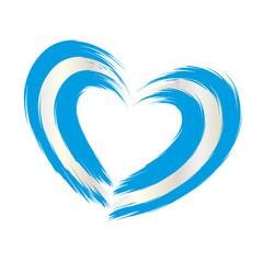 Herz Oktoberfest - blau weiß