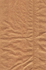 Brown Recycle Kraft Paper Bag Crumpled Grunge Texture - Detail