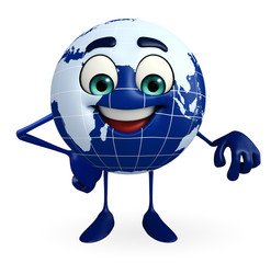 Globe Character with is atanding