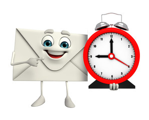 Mail Character with table clock