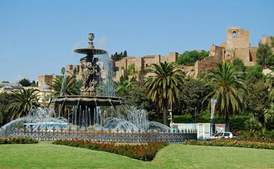 Fuente de las Tres Gracias y Alcazaba, Málaga