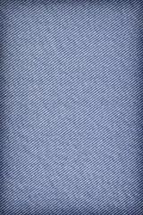 Blue Cotton Denim Fabric Crumpled Vignette Grunge Texture Sample
